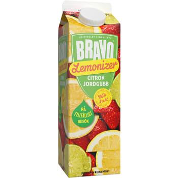 Juice Lemonizer Citron & jordgubb 1l Bravo