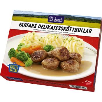 Farfars delikatessköttbullar Måltid Fryst 400g  Familjen Dafgård