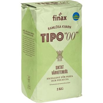 Vetemjöl Tipo 00 Siktat Varvetemjöl 2kg Ramlösa Kvarn