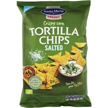 Tortilla Chips Salted Ekologisk 125g Santa Maria