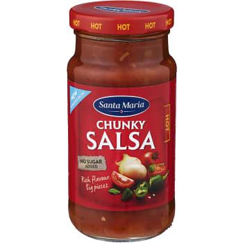 Chunky salsa Hot 230g Santa Maria