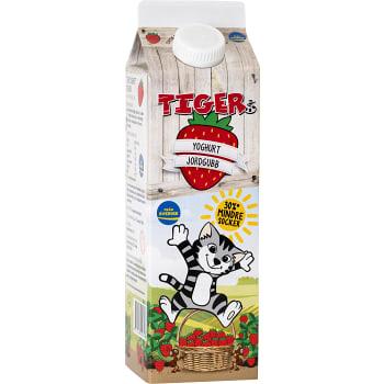 Yoghurt Jordgubb Slät 2,6% 1000g Tiger