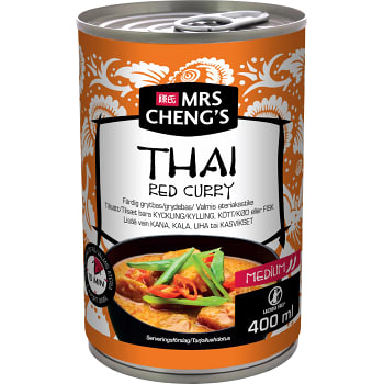 Grytbas Thai red curry Het 400ml Mrs Chengs