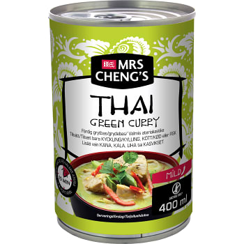 Grytbas Thai green curry Mild 400ml Mrs Chengs