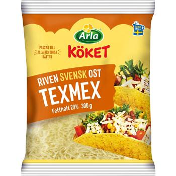 Riven ost Texmex 29% 300g Arla