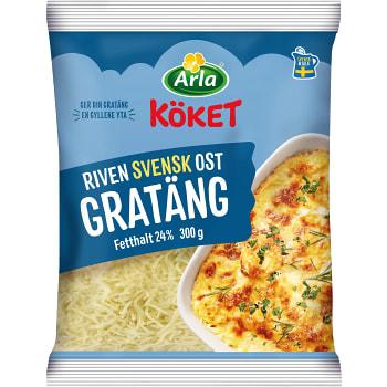 Riven ost Gratäng 24% 300g Arla