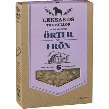 Knäckebröd Tre kullor Örter & frön 180g Lekasands knäcke