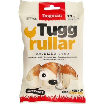 Tuggrulle med kyckling 3-p Dogman