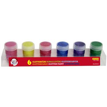 Glitterfärg Basic 6-p Sense