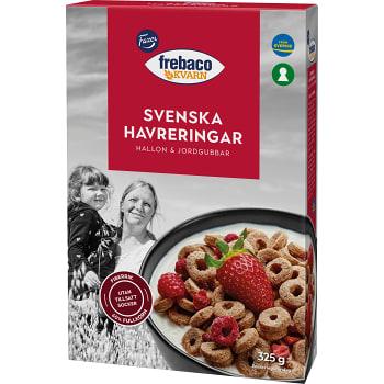 Havreringar Hallon & jordgubbar Fullkorn 325g Frebaco