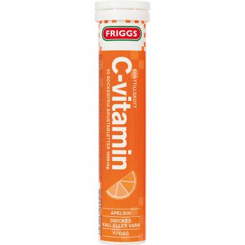 C-vitamin Apelsin Sockerfri brustablett Kosttillskott 20-p 1000mg Friggs