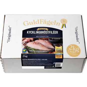 Kycklingbröstfiléer Fryst 2kg Guldfågeln