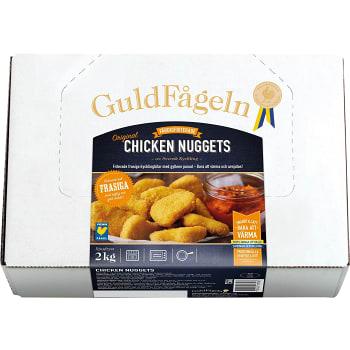 Chicken nuggets Fryst 2000g Guldfågeln