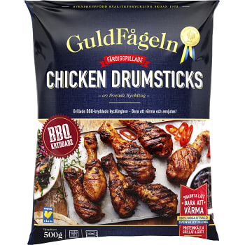Chicken drumsticks BBQ Fryst 500g Guldfågeln