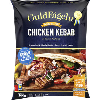 Chicken kebab Fryst 500g Guldfågeln