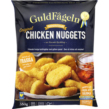 Chicken nuggets Fryst 350g Guldfågeln