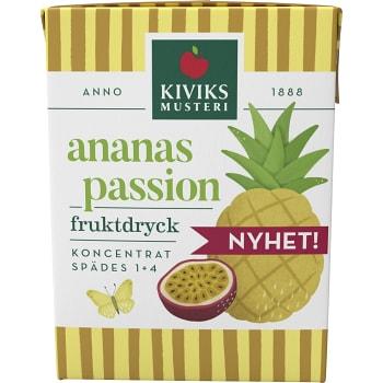 Fruktdryck Ananas & passionsfrukt Koncentrat 200ml Kiviks Musteri