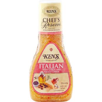 Italian dressing Garlic & asiago cheese 267ml Kens