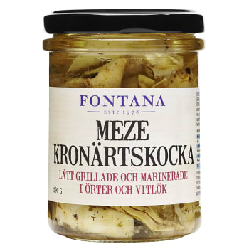 Meze Marinerad Grillad Kronärtskocka Vitlök & örter 190g Fontana