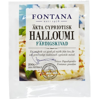 Halloumi Färdigskivad 200g Fontana