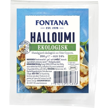 Halloumi Ekologisk 200g Fontana
