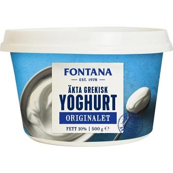Yoghurt Äkta Grekisk 10% 500g Fontana