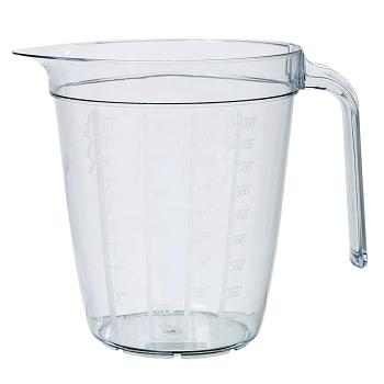 Måttkanna Plast Transparent 1l