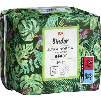 Ultra Normal Med vingar Binda 14-p ICA