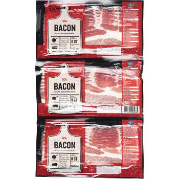 Bacon Skivad 3-p 140g ICA