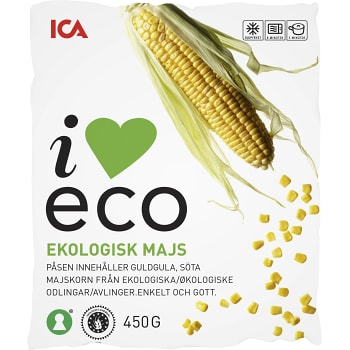 Majs Fryst Ekologisk 450g ICA I love eco