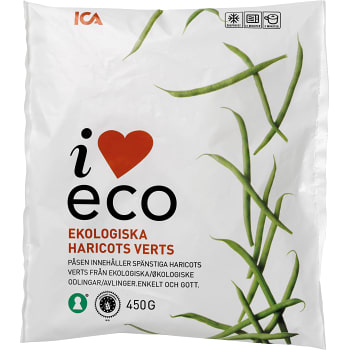 Haricots verts Fryst Ekologisk 450g ICA I love eco