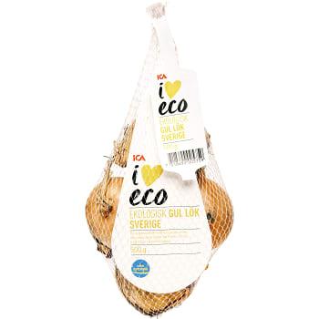 Gul lök i nät 500g KRAV Klass 1 ICA I love eco