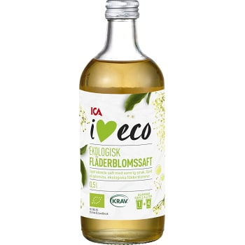 Fläderblomssaft 50cl KRAV ICA I love eco