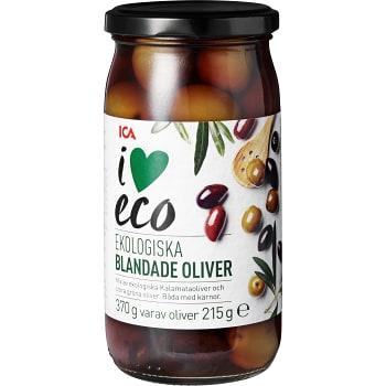 Blandade Oliver med Kärnor Ekologisk 370g ICA I love eco
