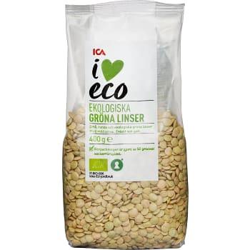 Gröna linser 400g KRAV ICA I love eco