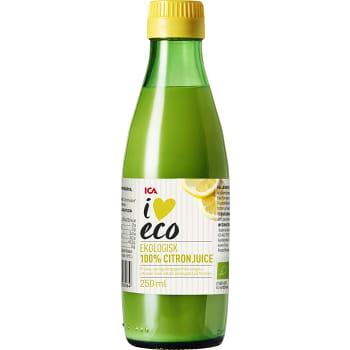 Citronjuice Pressad Ekologisk 250ml ICA I love eco