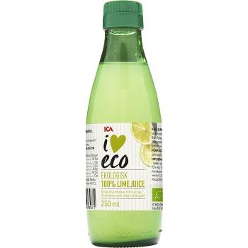 Limejuice Pressad Ekologisk 250ml ICA I love eco