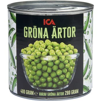 Gröna ärtor 400g ICA