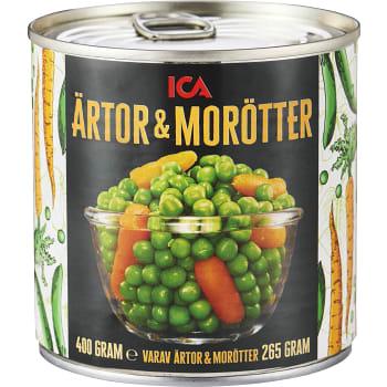 Ärtor & morötter 400g ICA