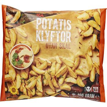 Potatisklyftor utan skal Fryst 800g ICA