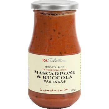 Pastasås Mascarpone & ruccola 420g ICA Selection