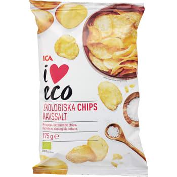 Lättsaltade Chips 175g KRAV ICA I love eco