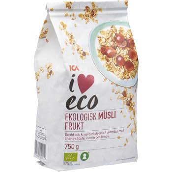 Müsli Frukt Ekologisk 750g ICA I love eco
