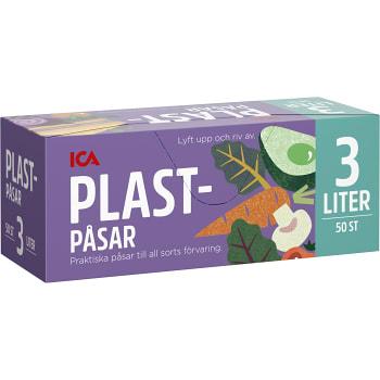Plastpåsar 3l 50st ICA