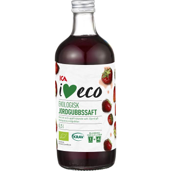 Jordgubbssaft 50cl KRAV ICA I love eco
