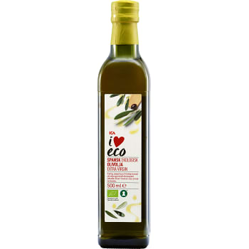 Extra virgin Olivolja Ekologisk 500ml ICA I love eco