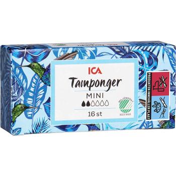Mini Tampong 16-p Miljömärkt ICA