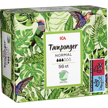 Normal Tampong 56-p Miljömärkt ICA