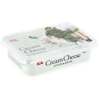 Cream cheese Vitlök & örter 200g ICA