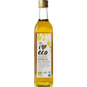 Kallpressad Rapsolja 500ml KRAV ICA I love eco